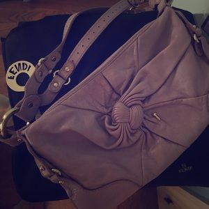 FENDI 😉 LAVENDER LTHR KNOT 👏/CARD/AUTHENTIC/VNTG